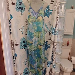 Vintage Val Mode Tropical Lingerie Nightgown